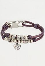 Lizzy James Charlotte CZ Heart-Met Berry-2—S Bracelet