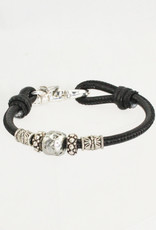 Lizzy James Maya-Black Lizard-2—M Bracelet