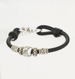 Lizzy James Maya-Black Lizard-2—M Bracelet