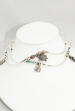 Lizzy James Mini Addie Quart-Gloss Turq-2-SP-S Bracelet