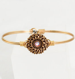 Luca + Danni Sunflower Bangle Bracelet_brass tone_regular