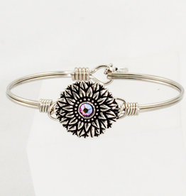 Luca + Danni Sunflower Bangle Bracelet_silver tone_petite