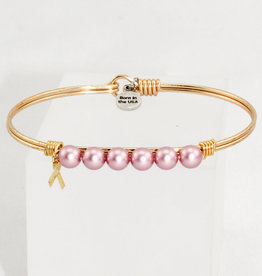 Luca + Danni Crystal Pearl Bangle Bracelet in Pink Ribbon_brass tone_regular