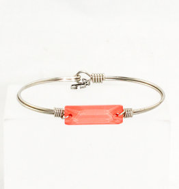 Luca + Danni Hudson Bangle Bracelet In Living Coral_Regular_Silver Tone