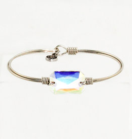 Luca + Danni Dylan Bangle Bracelet in Crystal AB_Regular_Silver Tone