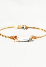 Luca + Danni Hudson-Champagne Swarovski Wire Wrapped Bracelet