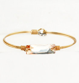 Luca + Danni Hudson Collection - Champagne Swarovski on Brass Ox Wire Wrapped Bracelet