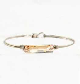 Luca + Danni Hudson Collection -Champagne Swarovski on Silver Wire Wrapped Bracelet