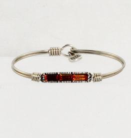 Luca + Danni Mini Hudson Bangle Bracelet in Autumn_silver tone_petite