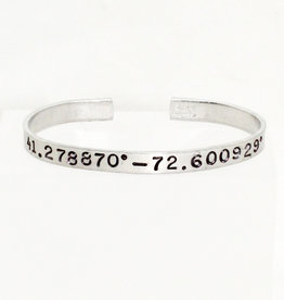 Nautically Northern Madison Coordinates Cuff