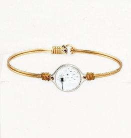 Luca + Danni Dandelion bracelet-Regular size-Brass tone