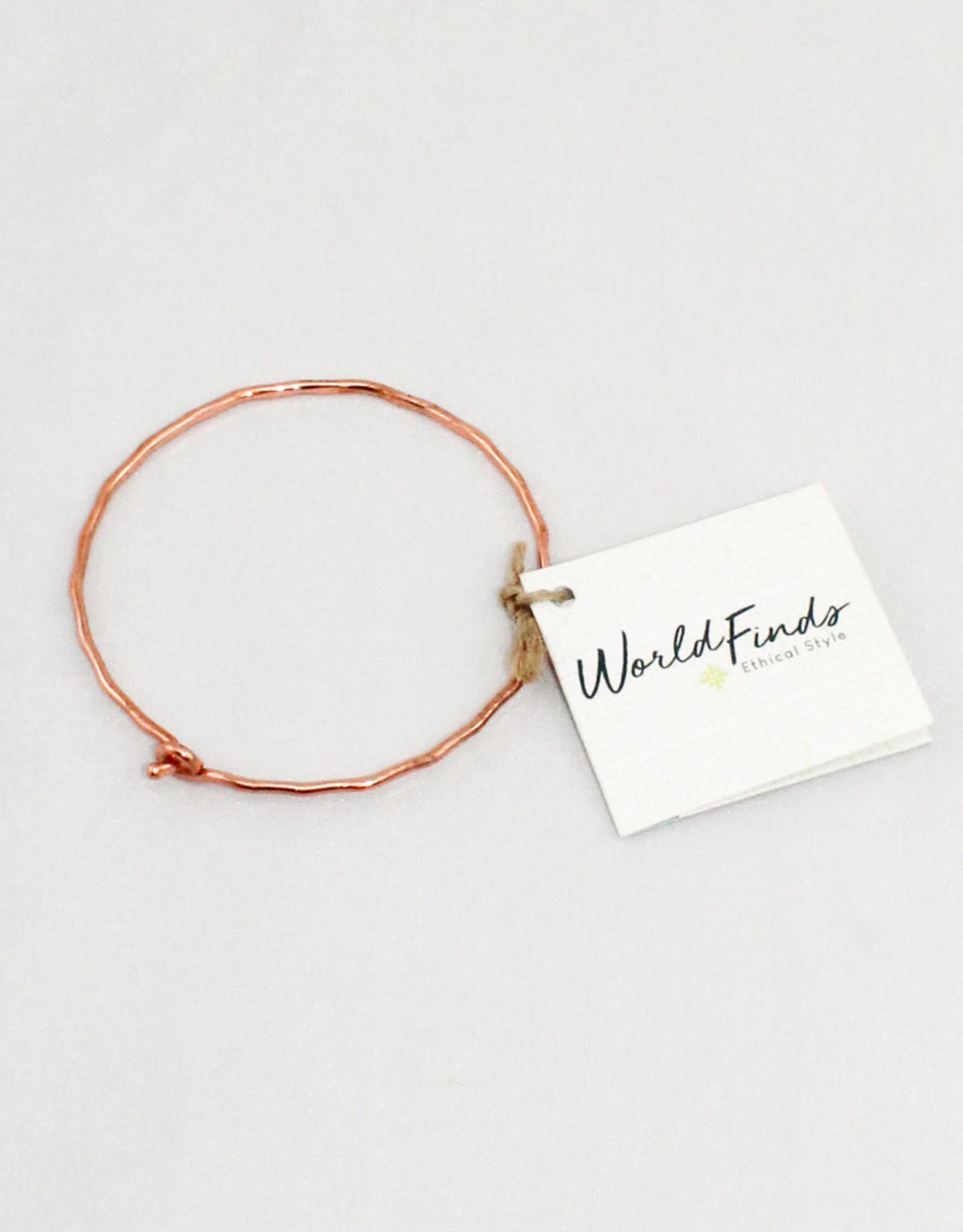World Finds Copper Ripple Bracelet