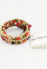 World Finds Glimmer Kantha Bracelet