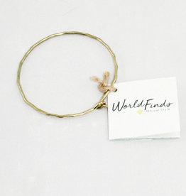 World Finds AC-981 Gold Ripple Bracelet