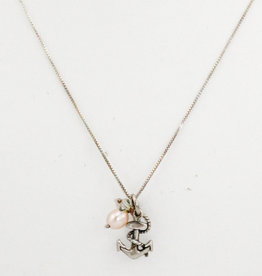 Adorned by Becca Anchor Pendant w/sterling chain