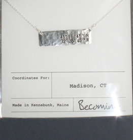Becoming Jewelry Madison Coordinates Horizontal Bar Necklace Silver