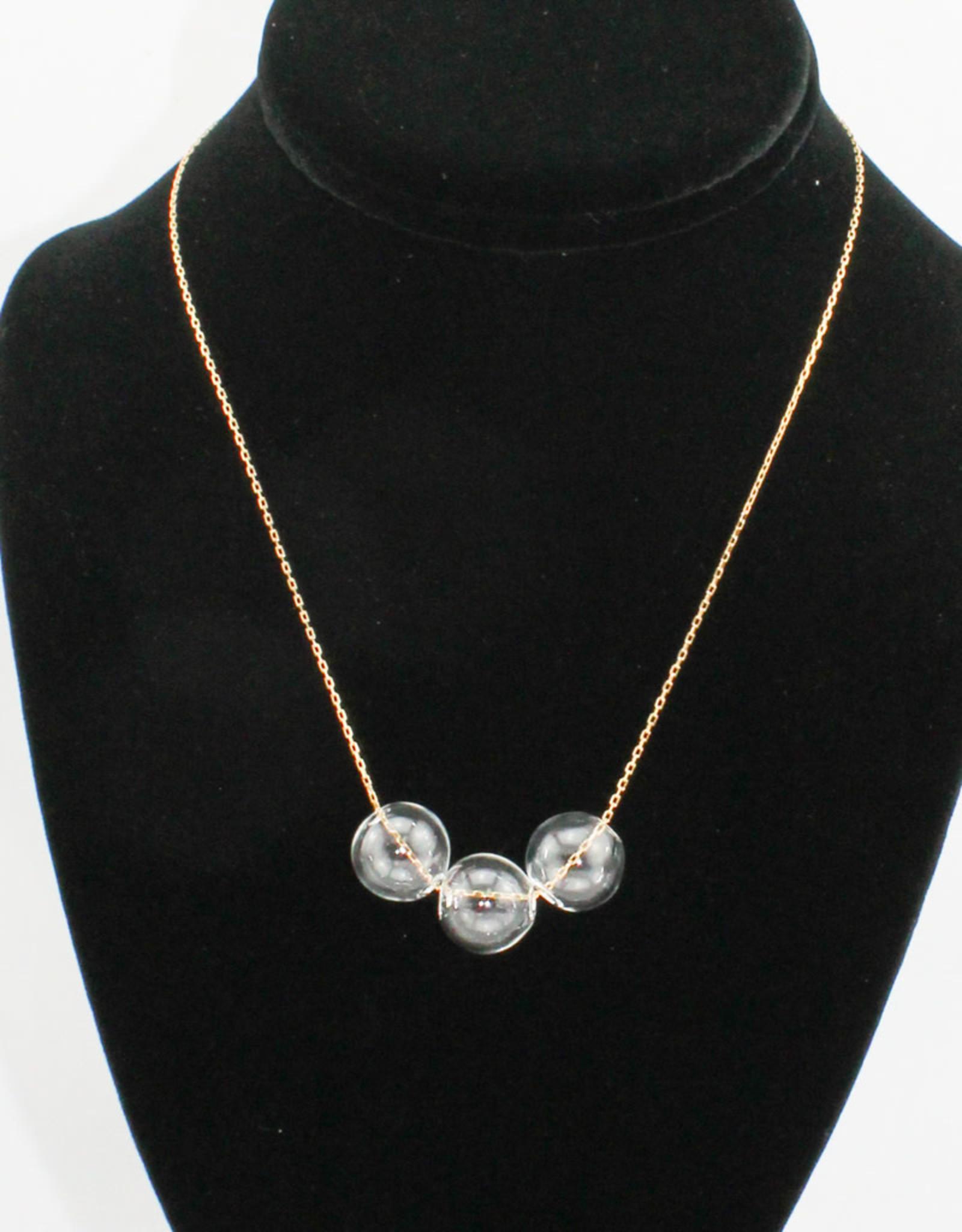 Crunchy Diva Designs Glass Bubble Necklace
