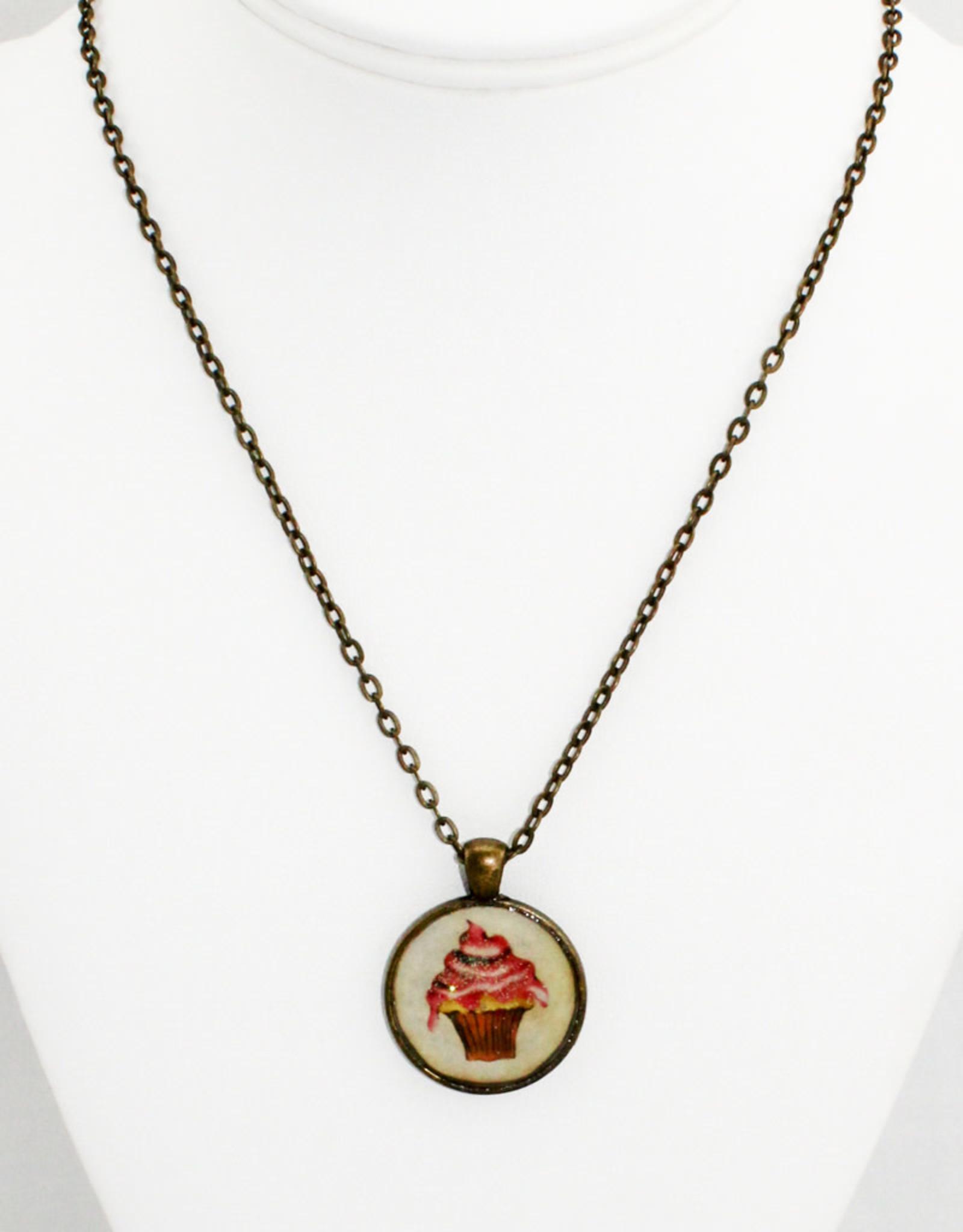 Sarah Taylor Jewelry Pink Cupcake Pendant
