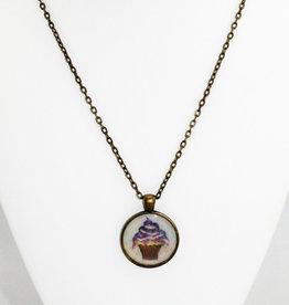Sarah Taylor Jewelry Purple Cupcake Pendant