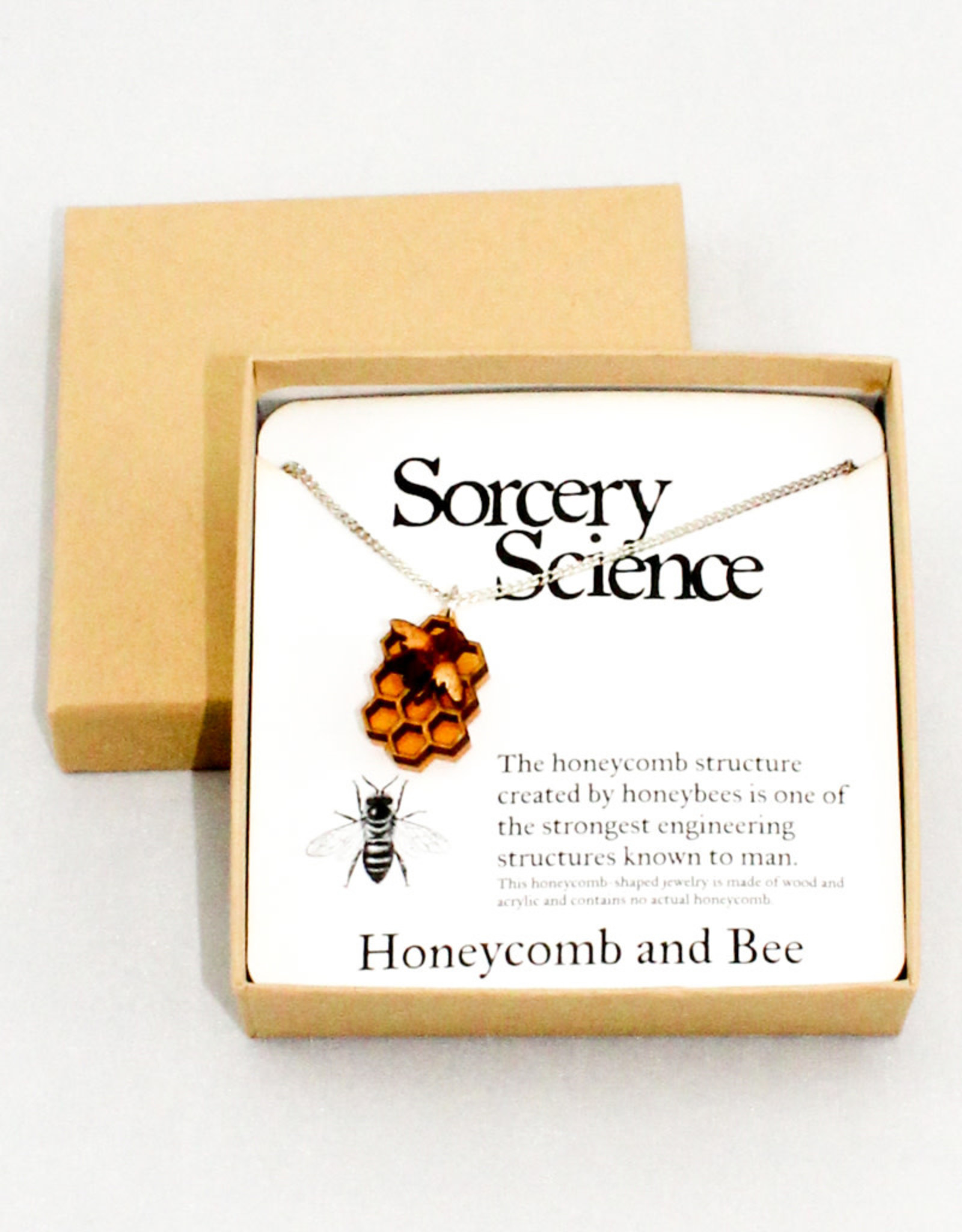 Sorcery Science Honeycomb Pendant Necklace
