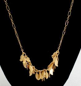 """Stefanie Wolf Designs 17-19"""" Gold Leaf Collection Petite Necklace LNPT"""