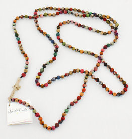 World Finds Kantha Bead Long Necklace AC-690