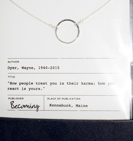 Becoming Jewelry Karma Necklace-Sterling