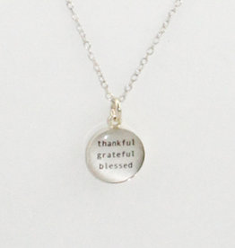 Everyday Artifacts Thankful Grateful Blessed Necklace