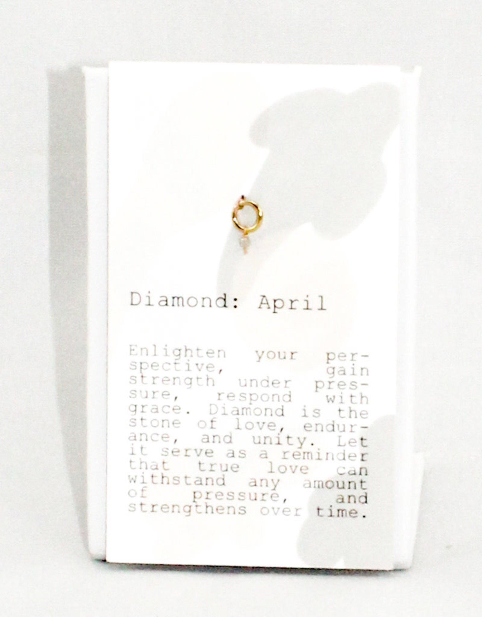 Kozakh April Faceted Diamond pendant