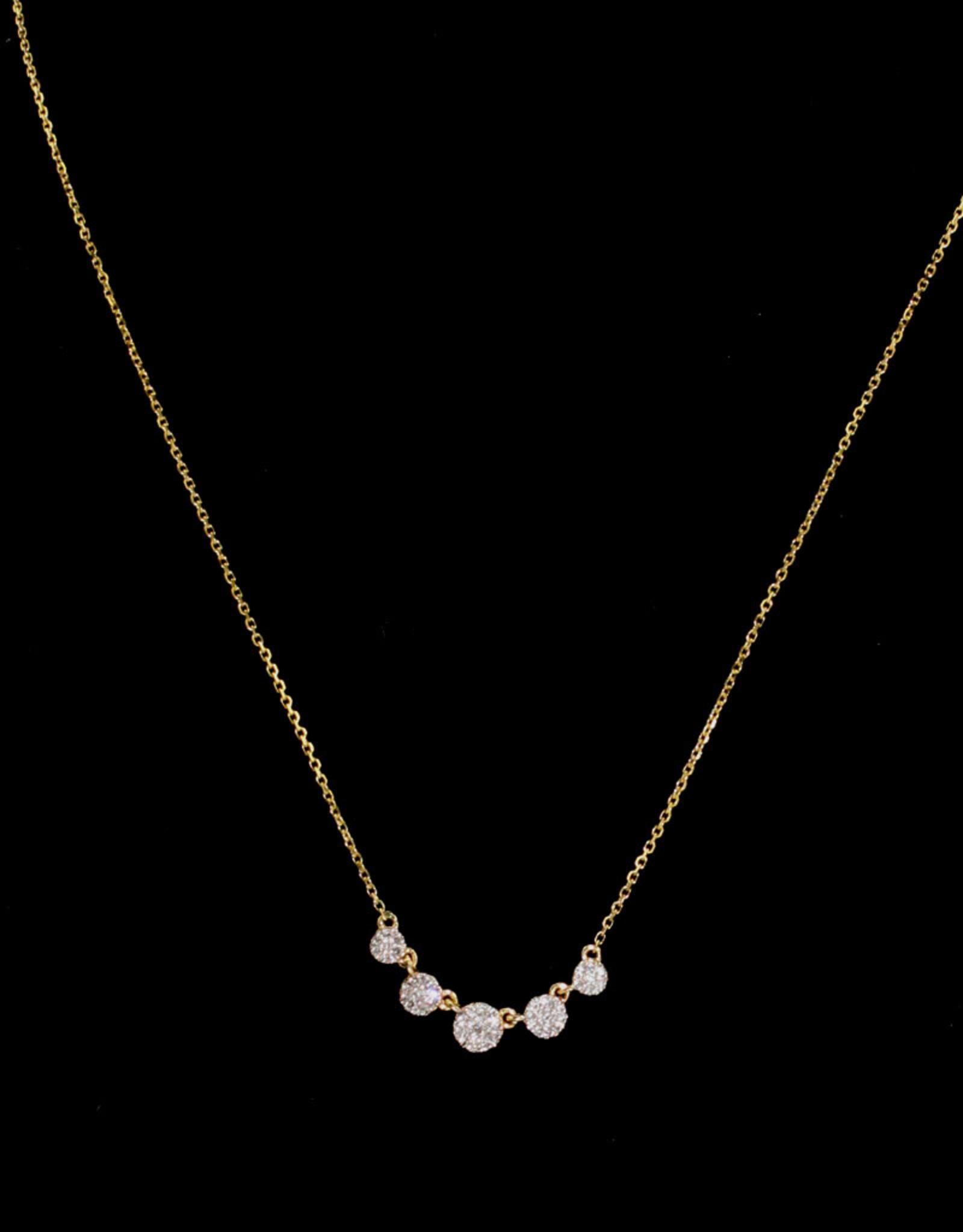 Alef Bet By Paula 5 Circle Necklace