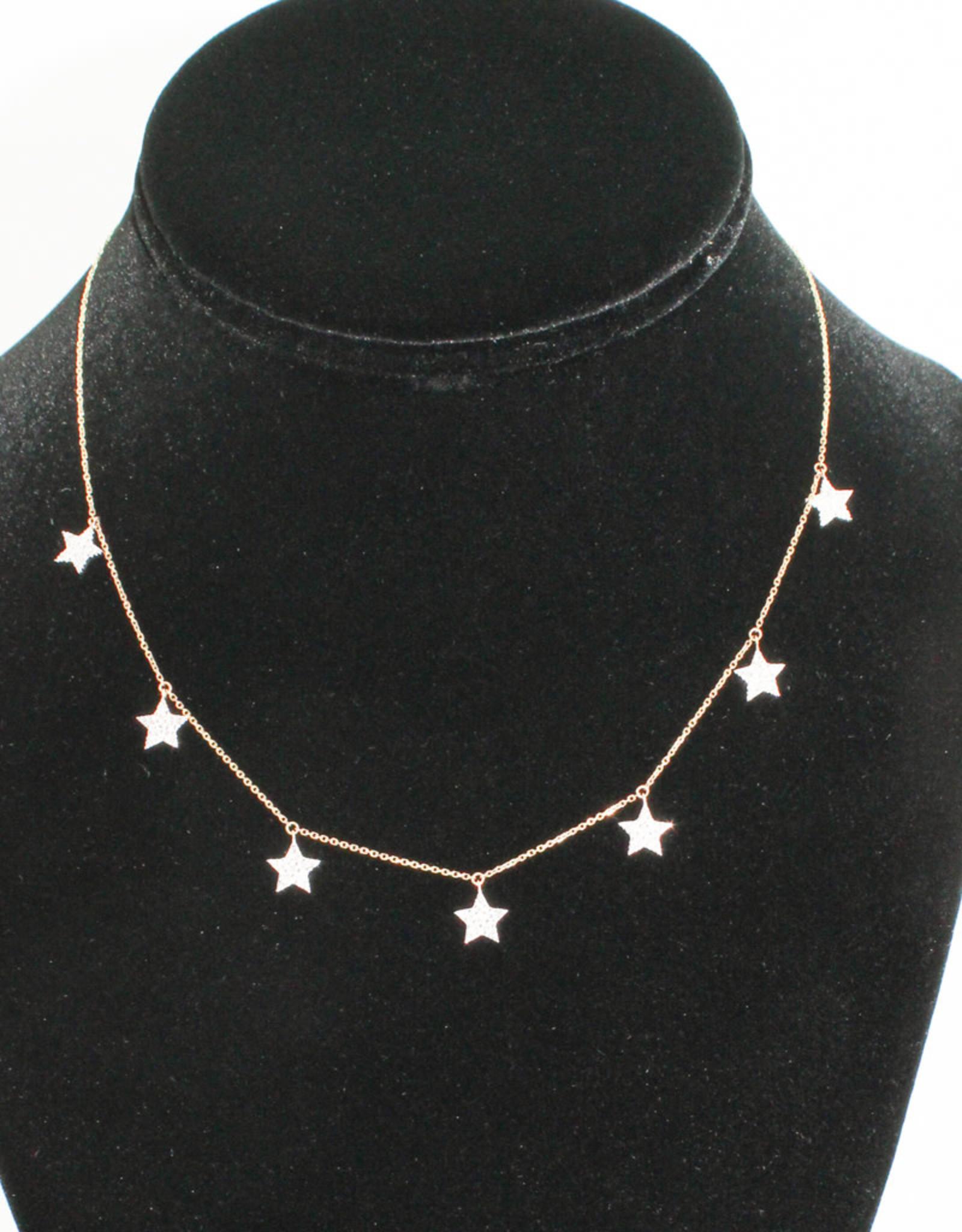 Alef Bet By Paula 7 Star Necklace
