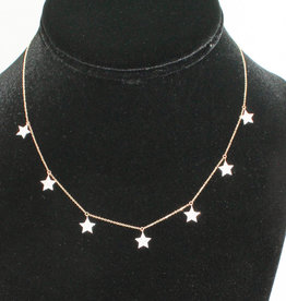 Alef Bet By Paula 7 star necklace .32 ct TW dia. in 14k