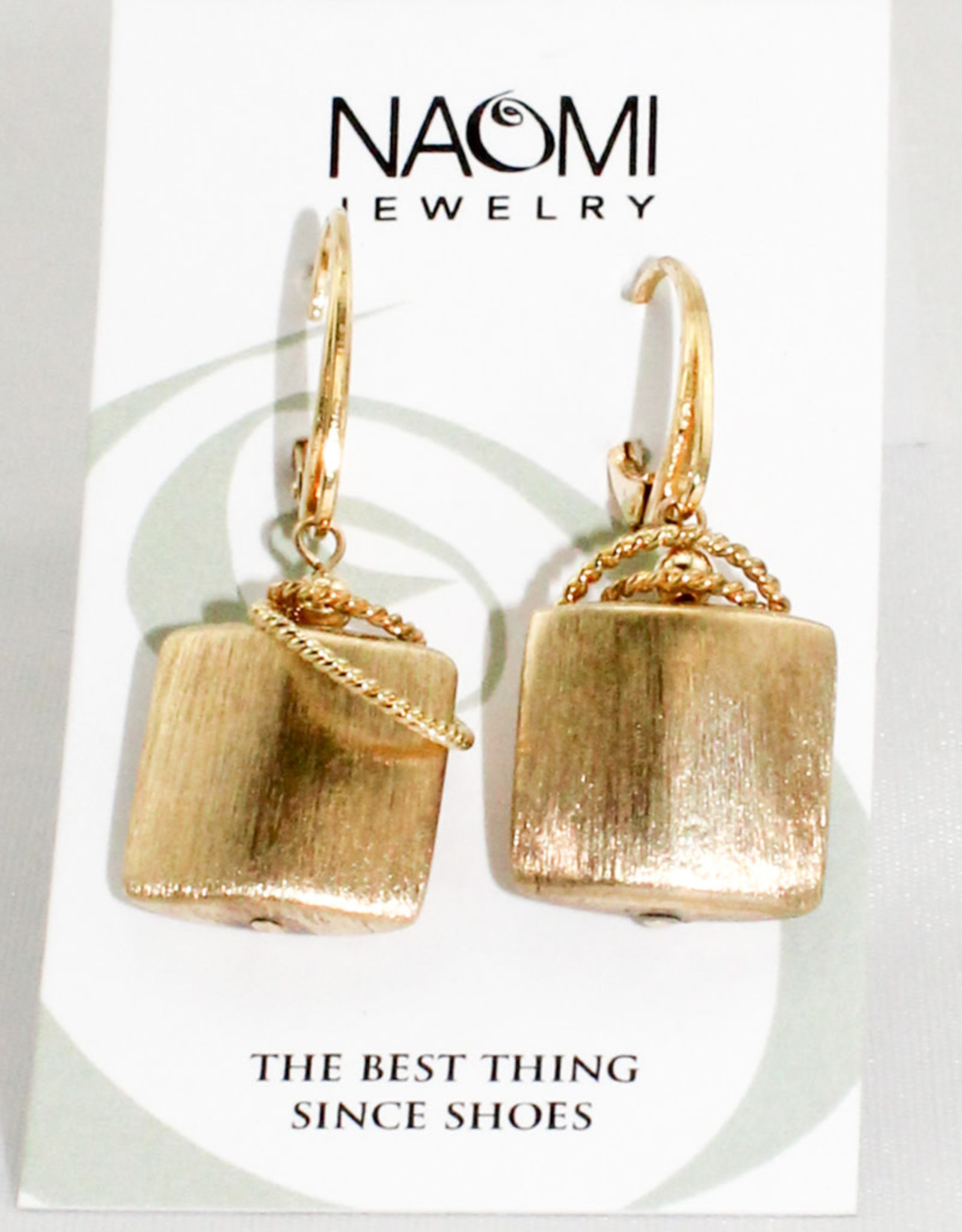 Naomi Jewelry Gold Vermeil Pillow Earrings