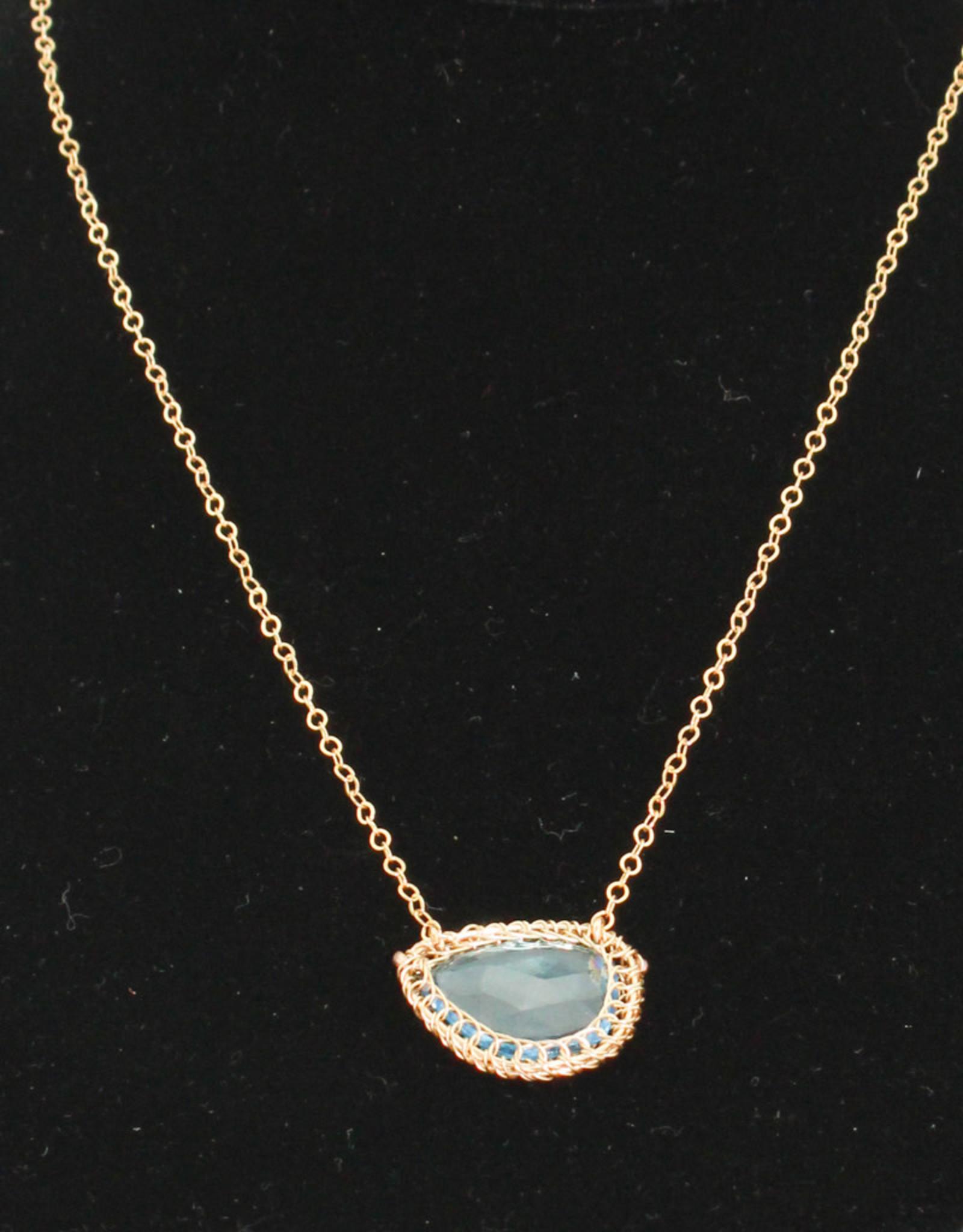 Ornatem Blue Topaz Necklace