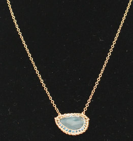Ornatem Blue Topaz Necklace