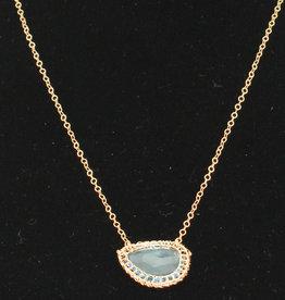 Ornatem N280LBT1-Blue Topaz Necklace