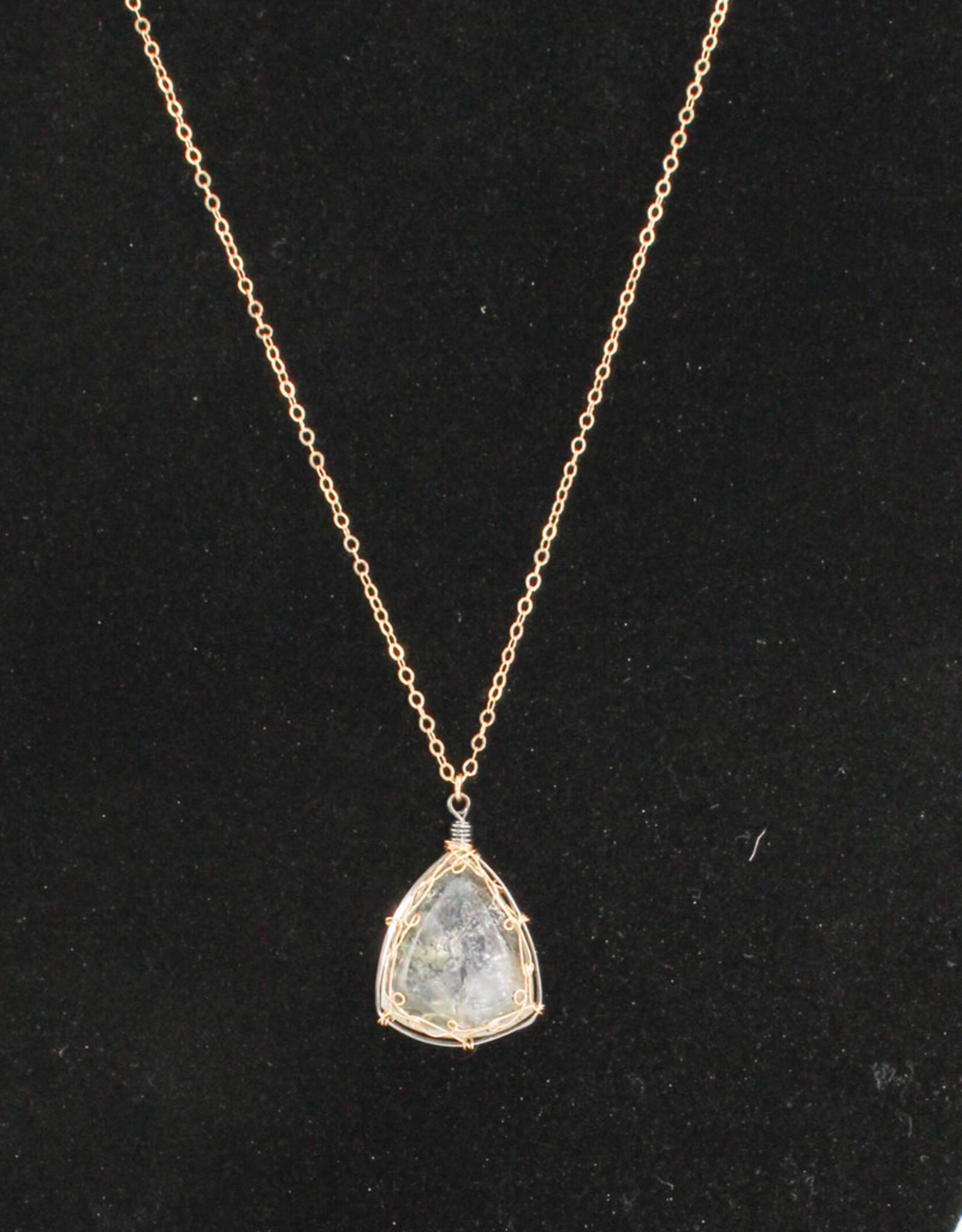 Ornatem Gemstone & Gold Necklace