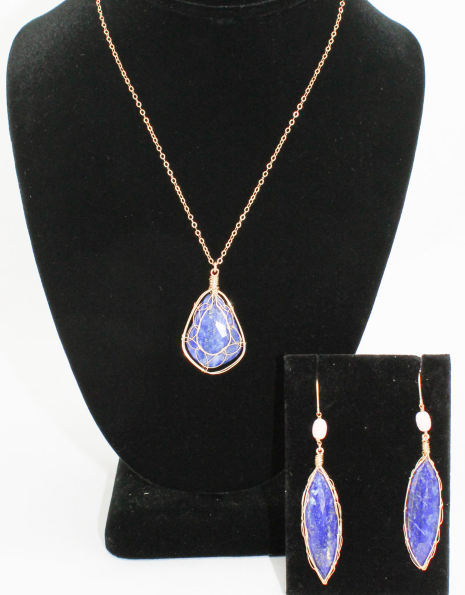 Ornatem Lapis and Gold Necklace