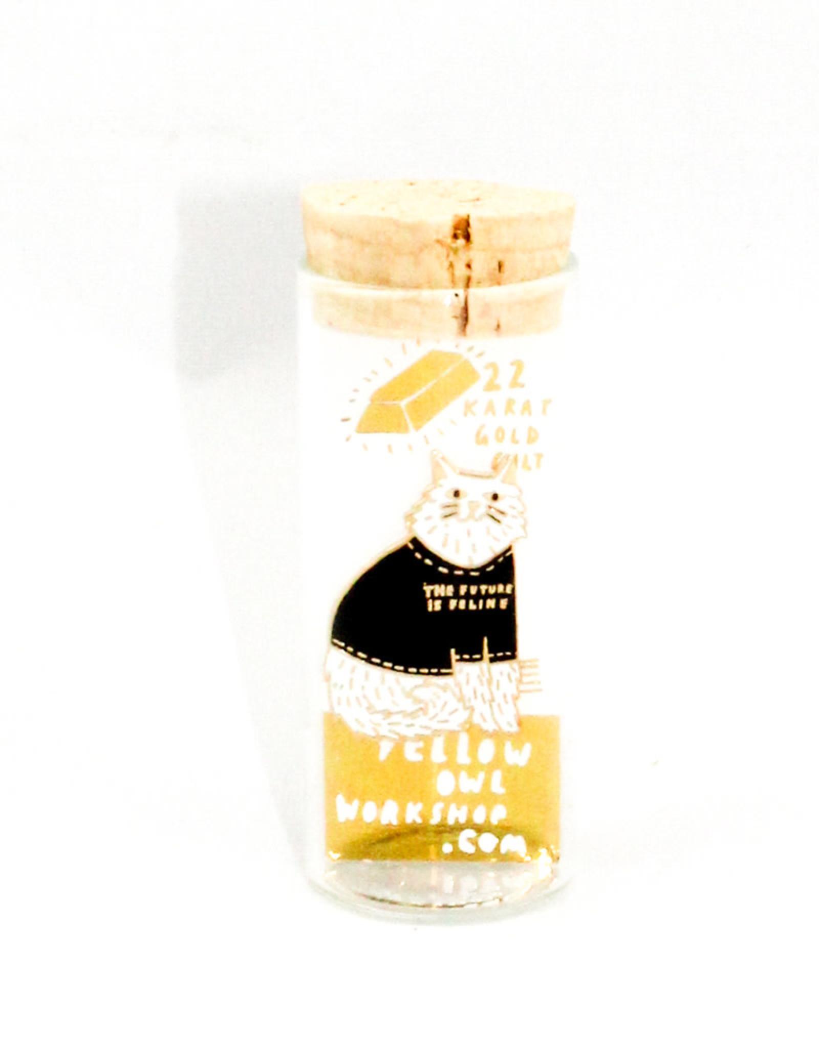 Yellow Owl Workshop Future is Feline Pin