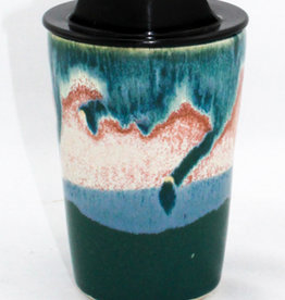 HeartMoss Pottery 12oz. Seashell Travel