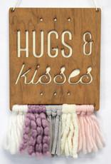 Tree by Kerri Lee Walnut & Wool Wall Art-hugs & kisses