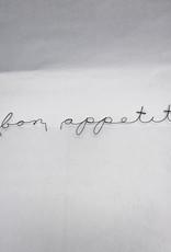 Gauge NYC Poetic Sign Bon Appetit