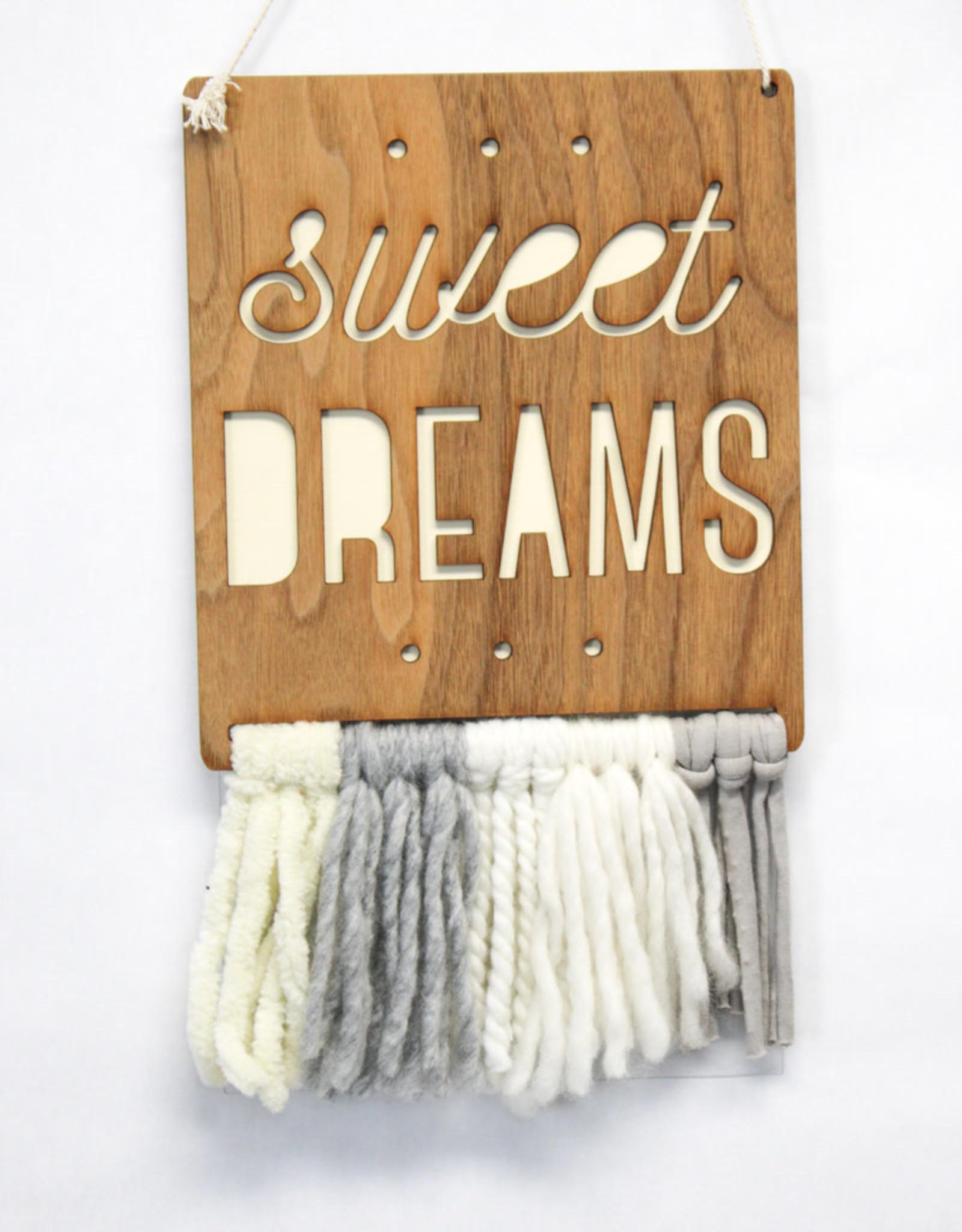 Tree by Kerri Lee Walnut & Wool Wall Art-sweet dreams