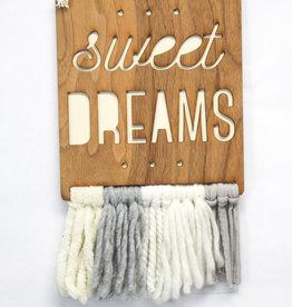 Tree by Kerri Lee Walnut & Wool Wall Art - sweet dreams