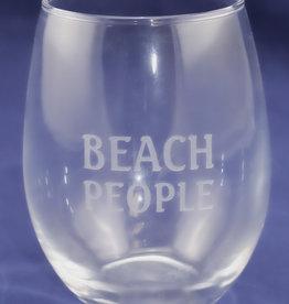 J Charles BEACH PEOPLE 15 oz. Stemless Wine