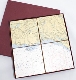 Screen Craft Tile Works Madison Map tile coasters
