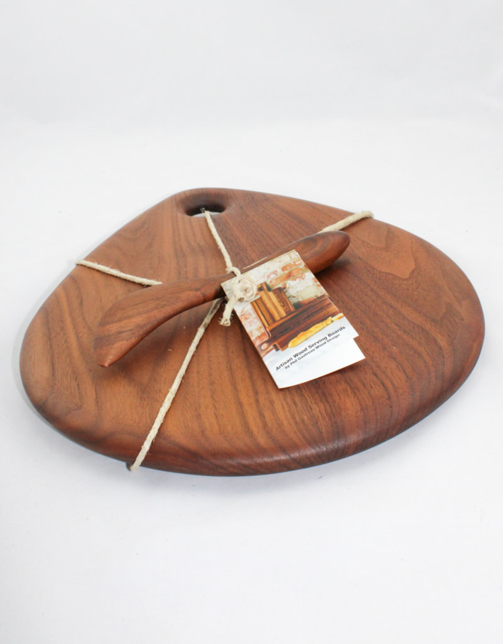 Phil Gautreau Wood Design Artisan Walnut Teardrop Serving Board
