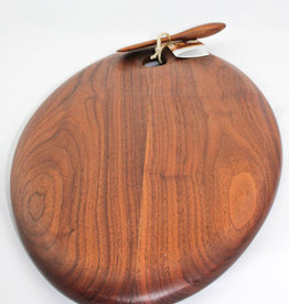 Phil Gautreau Wood Design Artisan Walnut Oval Serving Board