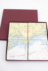 Screen Craft Tile Works Clinton Map tile coasters
