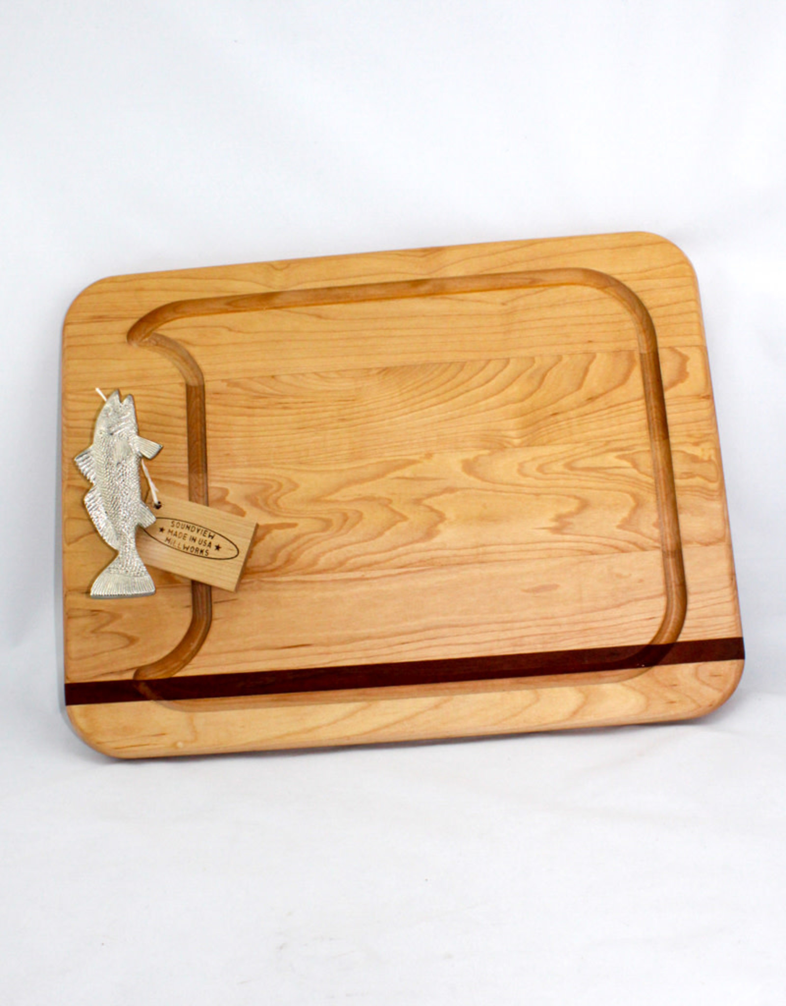 Soundview Millworks Appetizer Board-Fish Handle